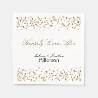 Brillo del confeti del oro servilletas de papel