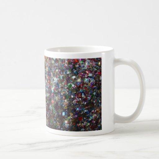 Brillo del confeti taza