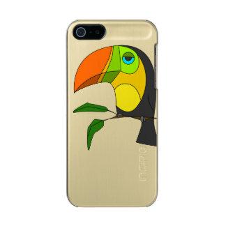 brillo del iPhone 5/5s Feather®, oro Toucan Funda Para iPhone 5 Incipio Feather Shine