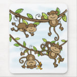 Brillo del mono alfombrillas de raton
