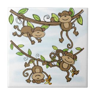 Brillo del mono azulejo cuadrado pequeño