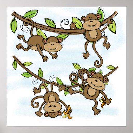 Brillo del mono impresiones