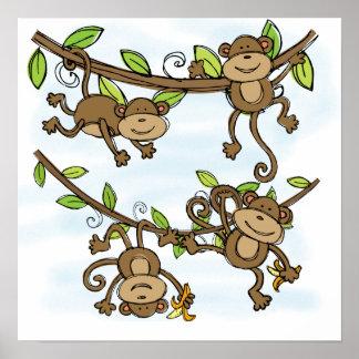 Brillo del mono póster