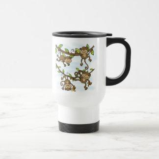 Brillo del mono taza de viaje