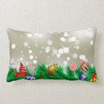 Brillo del ornamento del navidad almohada