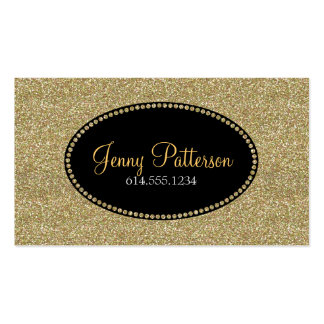Brillo del oro 2 tarjetas de visita femeninas