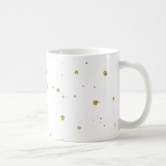 Brillo del oro de la chispa falso taza clásica