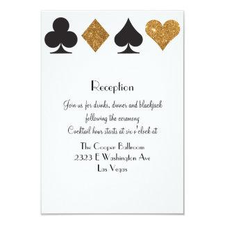 """Brillo del oro de la recepción de Las Vegas del Invitación 3.5"""" X 5"""""""