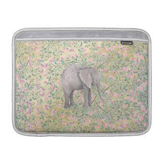 Brillo del oro de las flores del elefante de la funda macbook air