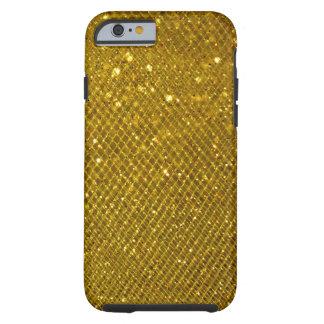 Brillo del oro funda de iPhone 6 tough