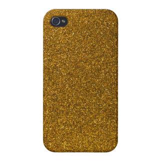 Brillo del oro iPhone 4 funda