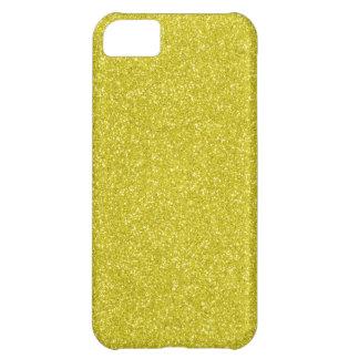 Brillo del oro funda para iPhone 5C