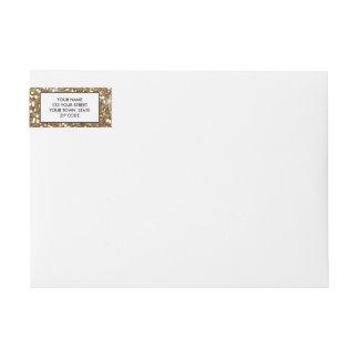 Brillo del oro impreso etiquetas postales