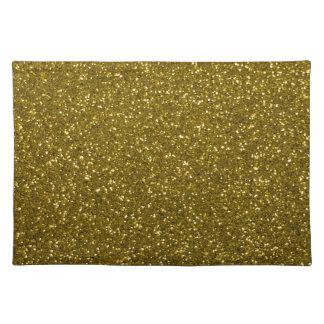 Brillo del oro mantel individual