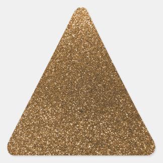 Brillo del oro calcomanías de trianguladas