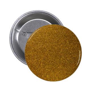 Brillo del oro pin redondo de 2 pulgadas