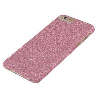 Brillo del pétalo del rosa color de rosa funda para iPhone 6 plus barely there