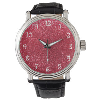 Brillo del rojo carmesí relojes de mano