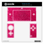 Brillo del rosa color de rosa skins para 3DS