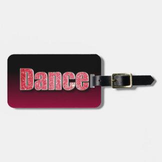 Brillo del rosa de la danza etiquetas para equipaje