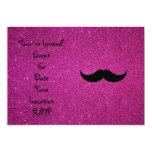Brillo del rosa del bigote anuncio personalizado