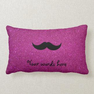 Brillo del rosa del bigote almohadas