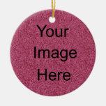 Brillo del rosa del ornamento del navidad ornamentos de navidad