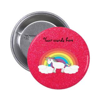 Brillo del rosa del unicornio del arco iris pins