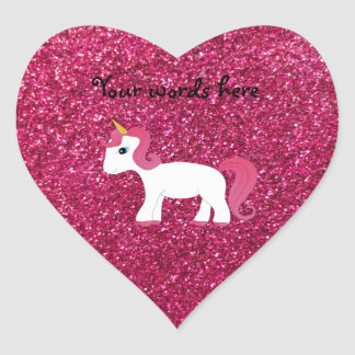 Brillo del rosa del unicornio pegatinas