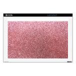 Brillo del rosa en colores pastel portátil 43,2cm skins