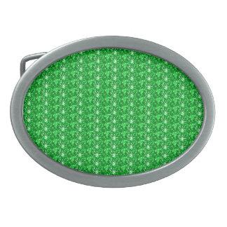 Brillo del verde de la hebilla del cinturón hebilla cinturón oval