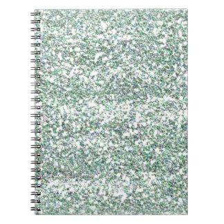 Brillo del verde de mar spiral notebook