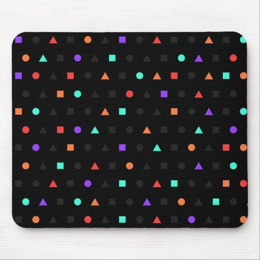 Brillo - diseñador negro Mousepad