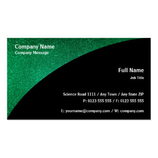 Brillo el   verde elegante tarjetas de visita