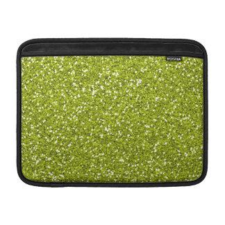 Brillo elegante de la verde lima fundas MacBook