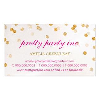 Brillo elegante del oro del rosa del confeti de la tarjetas de visita