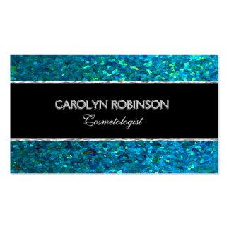 Brillo elegante del verde azul tarjetas de visita