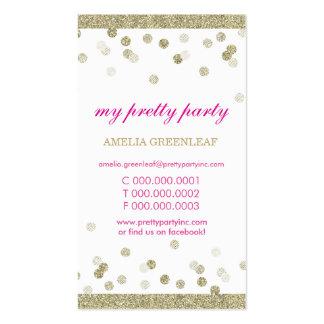 Brillo elegante lindo del oro del confeti de la tarjeta de visita