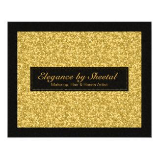 """Brillo elegante y chispas de los tonos del negro y folleto 4.5"""" x 5.6"""""""
