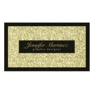 Brillo elegante y chispas de los tonos del negro y plantilla de tarjeta personal