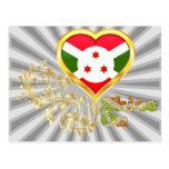 Brillo en Burundi Postales