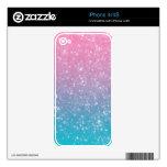 Brillo en colores pastel de Ombre iPhone 4 Skins