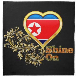 Brillo en Corea del Norte Servilleta Imprimida