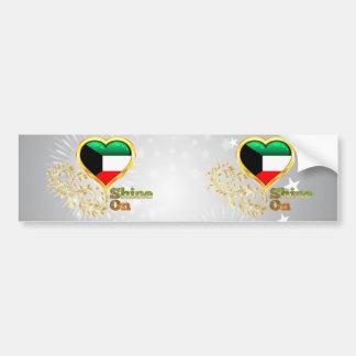Brillo en Kuwait Pegatina De Parachoque