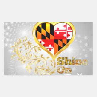 Brillo en Maryland Pegatina Rectangular