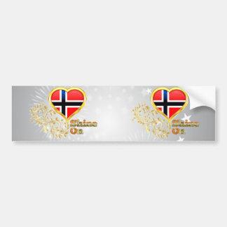 Brillo en Noruega Etiqueta De Parachoque
