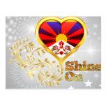 Brillo en Tíbet Tarjetas Postales