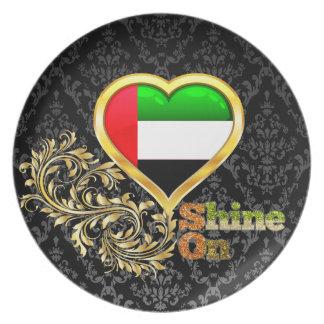 Brillo en United Arab Emirates Plato Para Fiesta