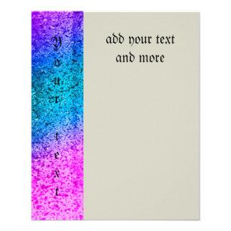 brillo, encanto, rosa, turquesa, metálico, de folleto 11,4 x 14,2 cm
