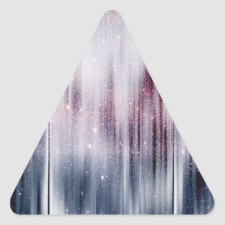 Brillo estrellado de la nebulosa pegatina triangular